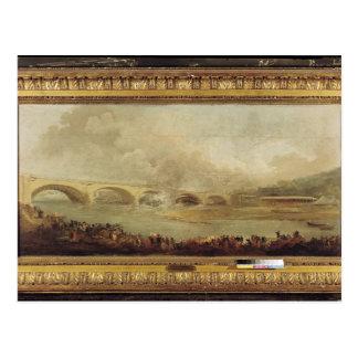 Enthüllung Pont de Neuilly, 1772 Postkarte