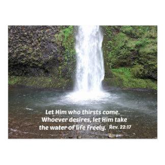 Enthüllungs-22:17 Postkarte