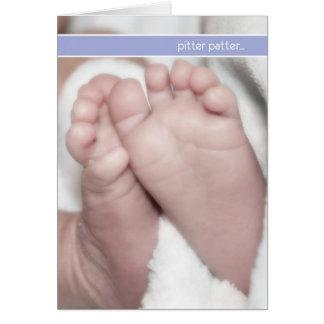 Entkernerrüttlerschwangerschafts-Mitteilungskarten Grußkarte