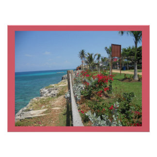 Entlang Krankenhaus-Park-Montego- Baydruck auf Poster