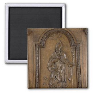 Entlastung, die Bischof St. Medard darstellt Quadratischer Magnet