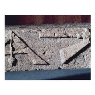 Entlastung, die das Instrument eines Steinmetzes Postkarte