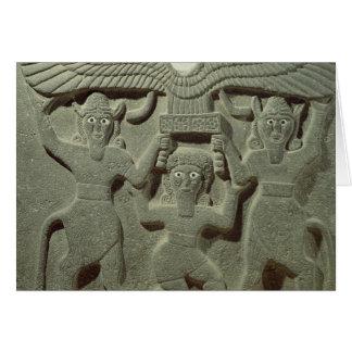 Entlastung, die Gilgamesh zwischen zwei darstellt Karte