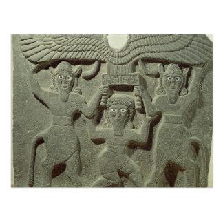 Entlastung, die Gilgamesh zwischen zwei darstellt Postkarte