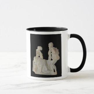 Entlastung, die Odysseus und Penelope darstellt Tasse