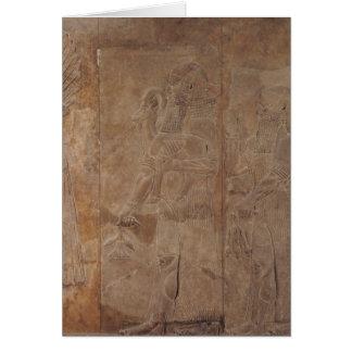 Entlastung, die Sargon II darstellt Karte