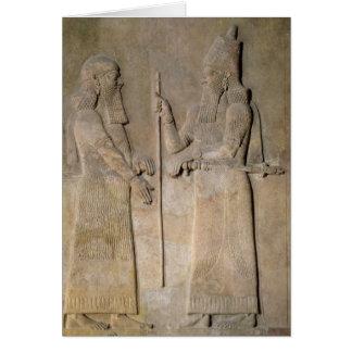 Entlastung, die Sargon II und einen Vizier Karte