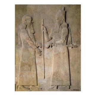 Entlastung, die Sargon II und einen Vizier Postkarte