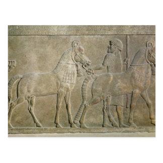Entlastung, welche die Steuerbaren von Sargon II Postkarte