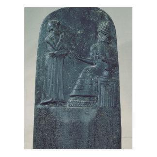 Entlastungs-Zahl des Gottes Shamash, der Gesetze Postkarte