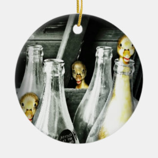 Entlein kommen in Unfug Keramik Ornament