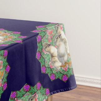Entlein und Blumen Tischdecke