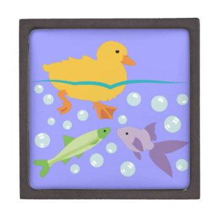 Entlein und Fische Kiste