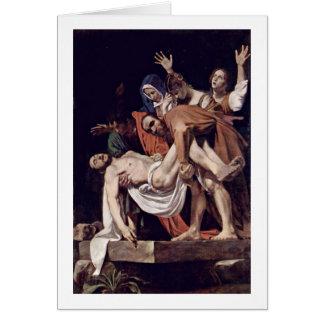 Entombment durch Michelangelo Merisi DA Caravaggio Karte