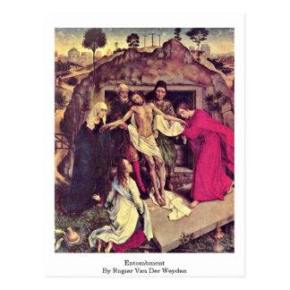 Entombment durch Rogier van der Weyden Postkarte