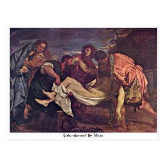 Entombment durch Titian Postkarte