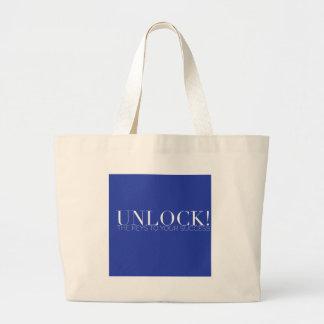 ENTRIEGELN Sie! Ihre Schlüssel-Leinwand-Tasche Jumbo Stoffbeutel