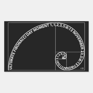 Entscheidender Fibonacci-Tagesmoment Rechteckiger Aufkleber