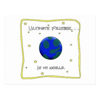 Entscheidender Frisbee ist meine Welt Postkarte