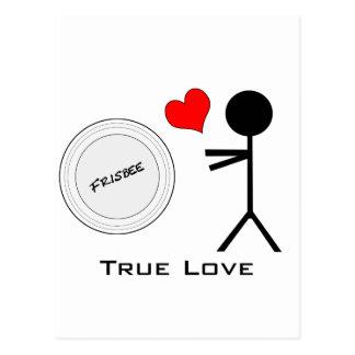 Entscheidender Frisbee-wahre Liebe Postkarte