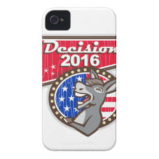 Entscheidungs-Demokrat-Esel 2016 iPhone 4 Hüllen