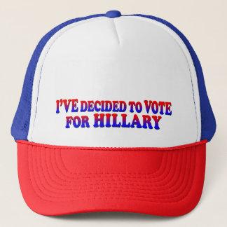 Entschieden für Hillary - Fernlastfahrer-Hut Truckerkappe