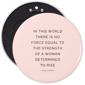 Entschlossene Frau, die Zitat-rosa Schwarzes Runder Button 15,3 Cm