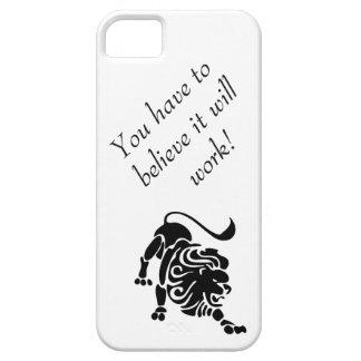 Entschlossener Löwefall, zum Sie zu helfen, zu iPhone 5 Etuis