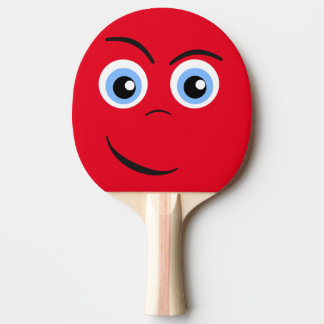 Entschlossenes Gesicht Tischtennis Schläger