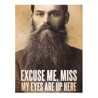 Entschuldigen Sie mich Fräulein, Bart-Liebhaber Postkarte