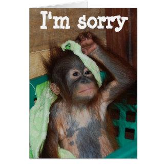 Entschuldigung es tut mir leid grußkarte