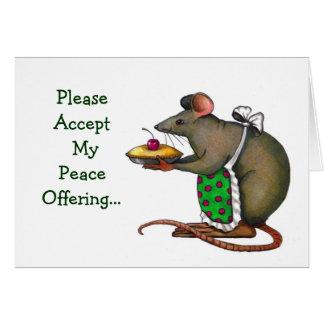 Entschuldigung: Friedensangebot: Frau Rat oder Grußkarten