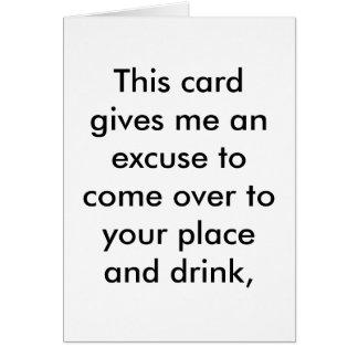 Entschuldigung für ein Geburtstagsgetränk Grußkarte