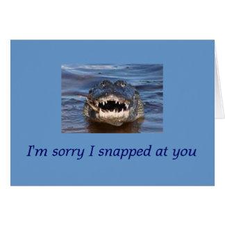 Entschuldigung Grußkarte