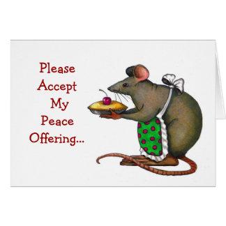Entschuldigung: Traurig: Friedensangebot: Frau Rat Karte