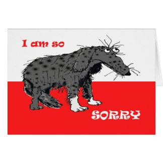 Entschuldigung, trauriger grauer Jagdhundhund Karte