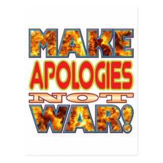 Entschuldigungen machen X Postkarten