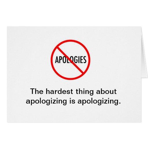 Entschuldigungs-Anmerkungs-Karte