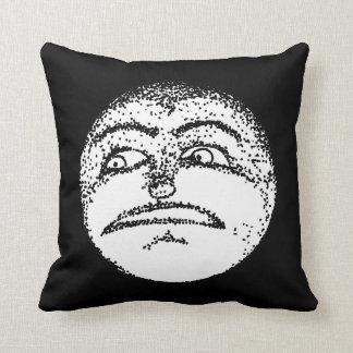 Entsetztes Mond-Gesicht Kissen