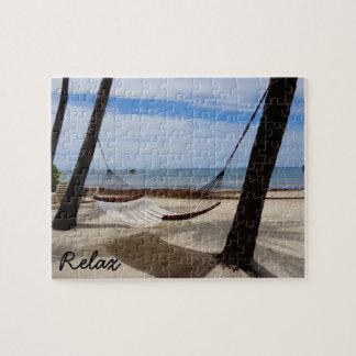 Entspannen Sie sich am Strand-Puzzlespiel Puzzle