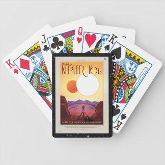 Entspannen Sie sich auf Kepler 16b Bicycle Spielkarten
