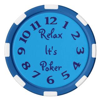 Entspannen Sie sich es ist Poker-Zeit Poker Chip Set