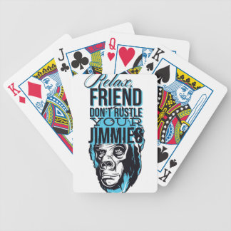 entspannen Sie sich Freunde rustle nicht, monkey Bicycle Spielkarten