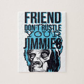 entspannen Sie sich Freunde rustle nicht, monkey Puzzle