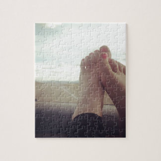 entspannen Sie sich Füße auf dem Armaturenbrett Puzzle