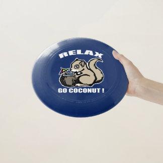 Entspannen Sie sich! Gehen Kokosnuss Wham-O Frisbee