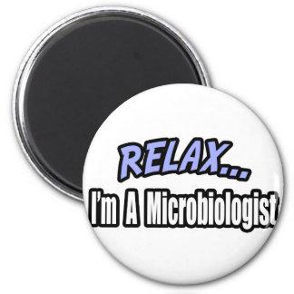 Entspannen Sie sich, ich sind ein Biologe Runder Magnet 5,7 Cm