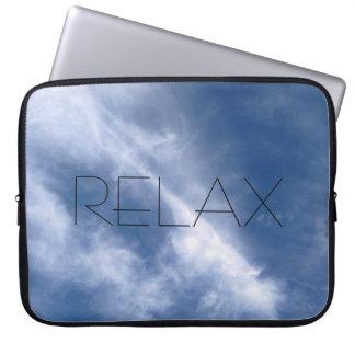 Entspannen Sie sich Laptopkasten des blauen Laptopschutzhülle