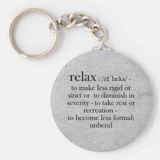Entspannen Sie sich, Spaßwörterbuchbedeutung für Schlüsselanhänger
