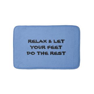 Entspannen Sie sich u. lassen Sie Ihre Füße die Badematte